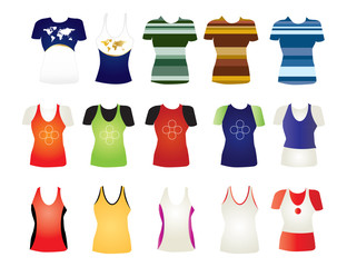 T-shirt collection for your ad. Editable