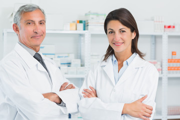 Pharmacists with their arms crossed