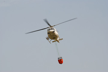 Firefighter helicopter in flight