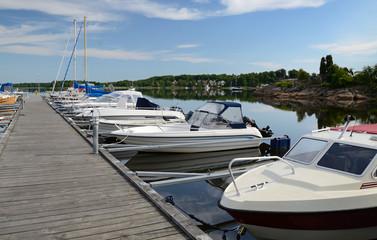 Boats in Karlskrona's harbor