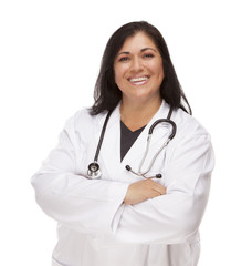 Attractive Female Hispanic Doctor or Nurse