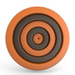 two tone ciercle  orange-brown