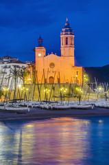 Sant Bartomeu i Santa Tecla church at Sitges, Spain