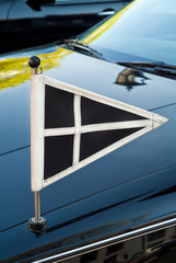 Flag on a funeral car