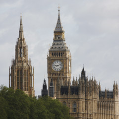 Fotomurales - London skyline, Westminster Palace, Big Ben and Central Tower