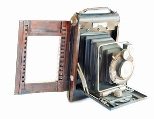 portarretrato de replica de camara de fotos antigua