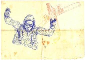 parachutist - this is original sketch