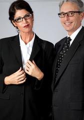 Mature business partners