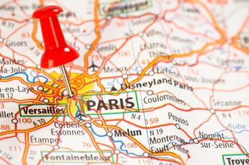 Paris on a map