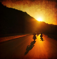 Wall Mural - Motorcycle ride