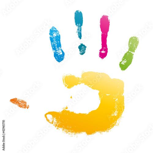 Vecteur main peinture fichier vectoriel libre de droits sur la banque d 39 images - Peinture main enfant ...