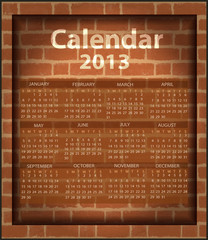 calendar brick fireplace 2013