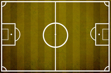 Soccer field pattern on vintage background
