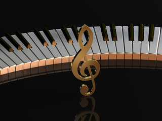 Tastatur Violinschlüssel BL