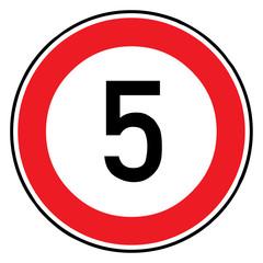 Papier Peint - Verkehrsschild - 274 Höchstgeschwindigkeit (5)
