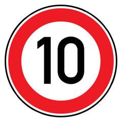 Papier Peint - Verkehrsschild - 274 Höchstgeschwindigkeit (10)