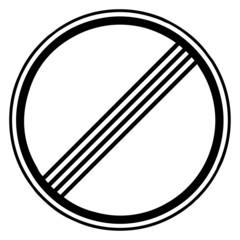 Papier Peint - Verkehrsschild - 282 Ende Streckenverbote