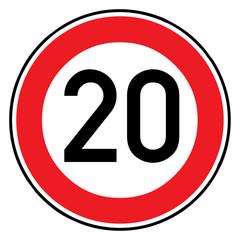 Papier Peint - Verkehrsschild - 274 Höchstgeschwindigkeit (20)