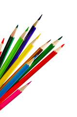 Set of color pencil crayons
