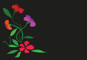illustration - Flower theme.