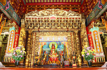 The Guan In Goddess in chinese temple.