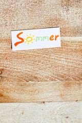 Sommer auf Holz - Hochformat