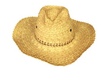 Woven straw sunhat