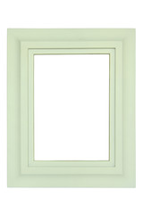 White wooden frame isolated