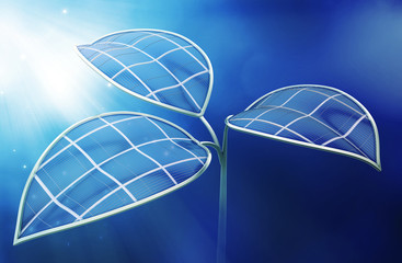 Artificial photosynthesis concept illustration
