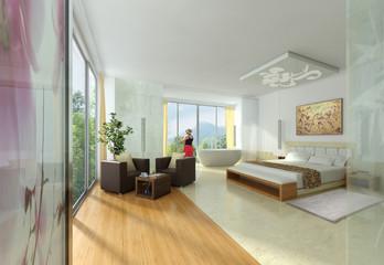 Hotelzimmer mit Ausblick