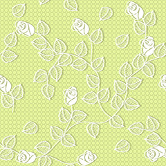 vector seamless yellow background with flowers