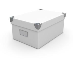 white box isolated over white background