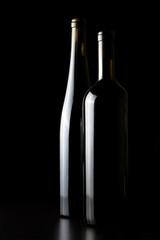 Wine glasses, a black background.
