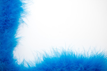 Blue Feathered Background