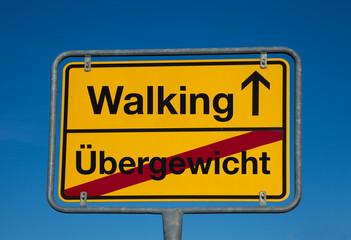 Wechsel-Schild ÜBERGEWICHT-WALKING