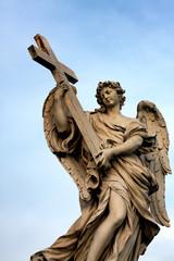 Statue at San't Angelo Bridge in Rome
