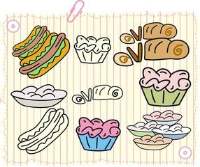 food and cake