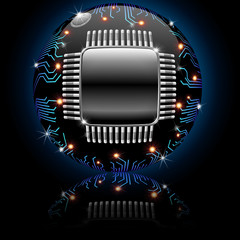 Circuito Elettronico Sfera Globo-Electronic Circuit Sphere Globe