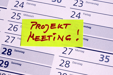 Projekt Meeting, Projektarbeit, Meeting, Treffen, Besprechung