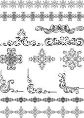 Set of ornate elements