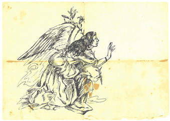 Archangel GABRIEL - hand-drawn