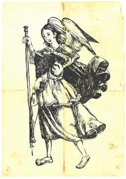 Archangel RAFAEL - hand-drawn