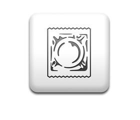 Boton cuadrado blanco simbolo condon