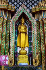 Buddha image in the central of Thailand