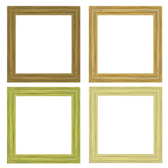 The wooden frame isolated on white background