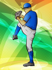 Abstract sports background/Baseball pitcher