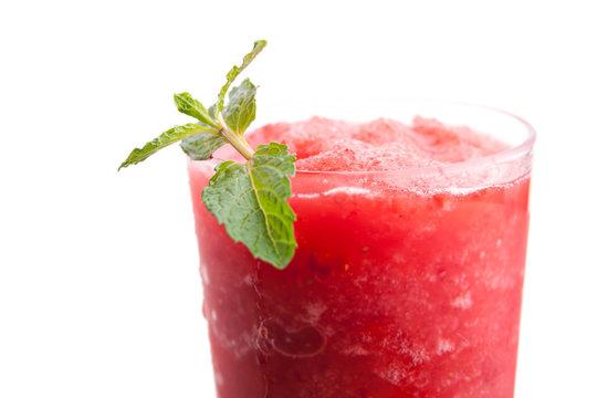 Frozen Tropical Strawberry Slushie