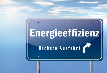 """Autobahnschild """"Energieeffizienz"""""""