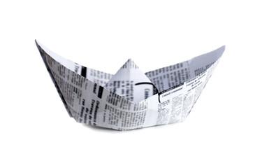 bateau en papier journal origami