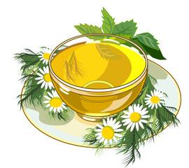 beautiful cup of herbal tea